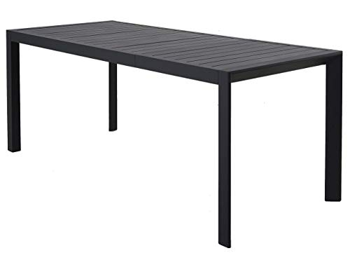 Chicreat Extendable Garden Table, Charcoal,...