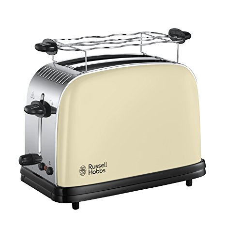 Russell Hobbs Toaster Colours+ creme, 2 extra...