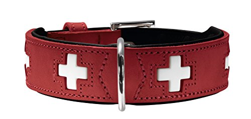 HUNTER SWISS Hundehalsband, Leder,...