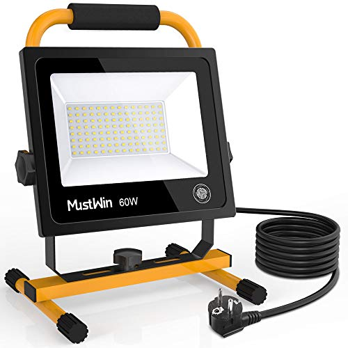 MustWin LED Baustrahler 60W Arbeitsleuchte...