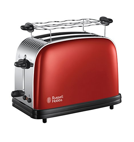 Russell Hobbs Toaster Colours+ rot, 2 extra...