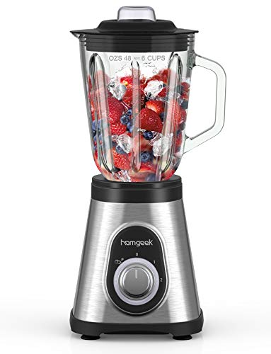 Standmixer Smoothie Mixer, homgeek 1.5L Glas...