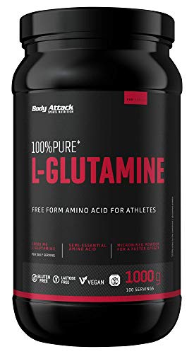Body Attack 100% Pure L-Glutamine – 1000g...