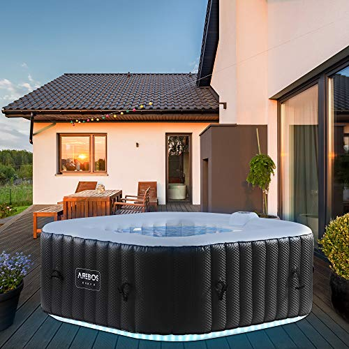 Arebos Whirlpool Corfu mit LED-Beleuchtung  ...