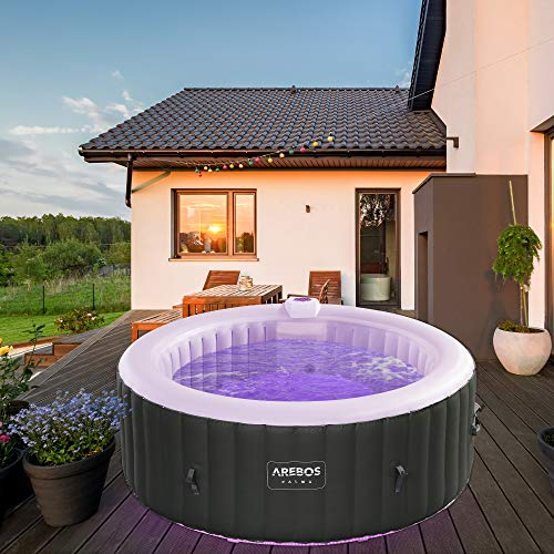 Arebos Whirlpool Palma mit LED-Beleuchtung  ...